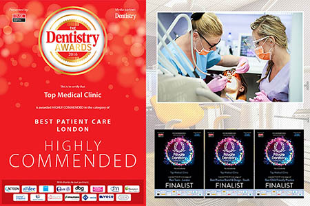 Top Medical Clinic awarded the 'Highly Commended' for Best Patient Care in the Dentistry Awards 2016